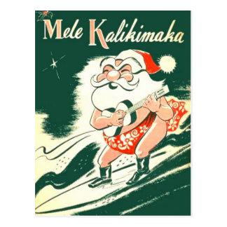 Mele Kalikimaka A sehr frohe Weihnacht-Postkarte Postkarte