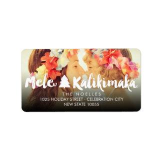 Mele Kalikimaka Adressaufkleber