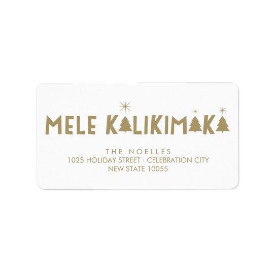 Mele Kalikimaka Glanz-Weihnachtsadressen-Etiketten Adress Aufkleber