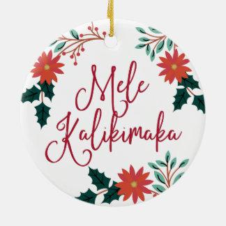 Mele Kalikimaka | hawaiisches Weihnachten Keramik Ornament
