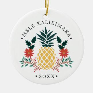 Mele Kalikimaka | hawaiisches WeihnachtsFoto Keramik Ornament