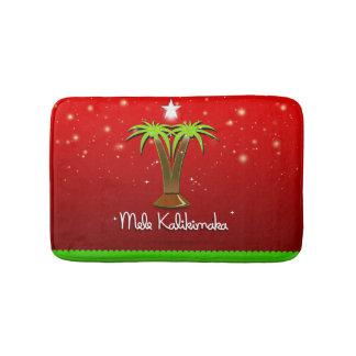 Mele Kalikimaka Palme für Weihnachten Badematte