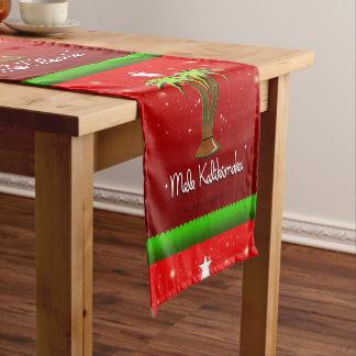Mele Kalikimaka Palme für Weihnachten Kurzer Tischläufer