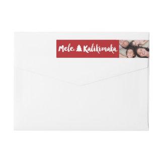 Mele Kalikimaka WeihnachtsFoto-Adressen-Etiketten