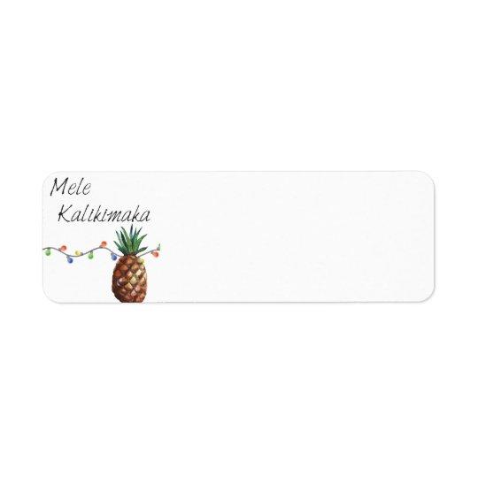 Mele Kalikimaka - Weihnachtsrückkehr-Aufkleber Rücksendeetiketten