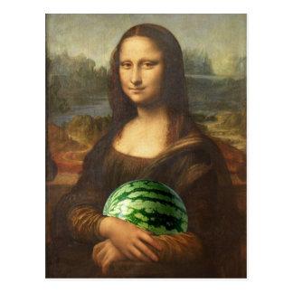 Melona Lisa wünscht glücklichen nationalen Postkarte
