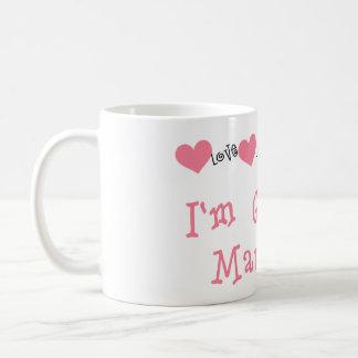 Melone-Herzen, die ich verheiratet erhalte Kaffeetasse