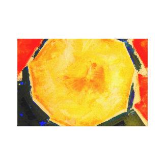 Melone-moderner Stillleben-Kunst-Druck Leinwanddruck