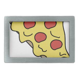 Melty Pizza Rechteckige Gürtelschnallen