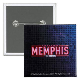 MEMPHIS - das musikalische Logo Quadratischer Button 5,1 Cm