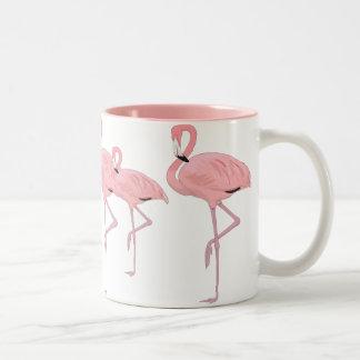 Menge der rosa Flamingos Zweifarbige Tasse