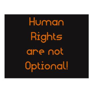Menschenrechte sind nicht optionale Postkarte