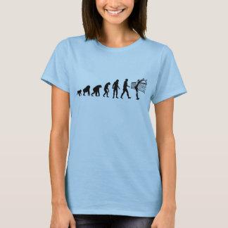 Menschliche Evolution: Volleyball-Spieler T-Shirt
