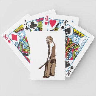menschlicher Affe mit Stock Bicycle Spielkarten