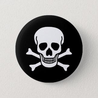 Menschlicher Schädel Runder Button 5,1 Cm