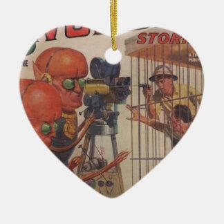 Menschlicher Zoo Keramik Herz-Ornament