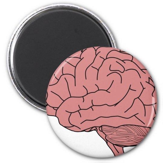 Menschliches Gehirn Runder Magnet 5,1 Cm