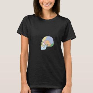 Menschliches Schädel-Knochen-Namen-Diagramm T-Shirt