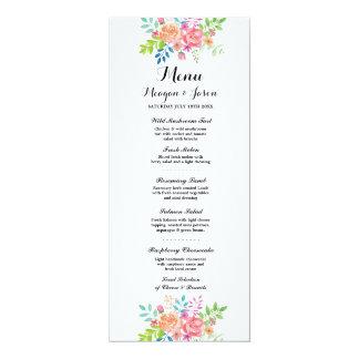 Menü-Hochzeits-Empfangs-elegante Blumen-Karten 10,2 X 23,5 Cm Einladungskarte