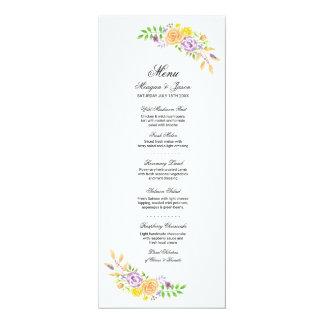 Menü-Hochzeits-Empfangs-lila korallenrote 10,2 X 23,5 Cm Einladungskarte