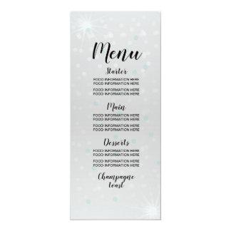 Menü-Hochzeits-Nahrungsmittelkarten-silbernes Karte