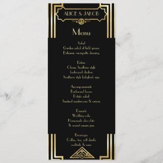 Menü-Kunst-Deko Gatsby Art, Kunst-Deko-Thema, Menükarte