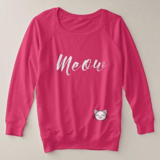 Meow - ein welches Spaß-Shirt Große Größe Sweatshirt