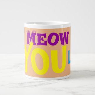 Meow-Liebe verlosen Sie riesige Kaffee-Tee-Tassen Jumbo-Tasse