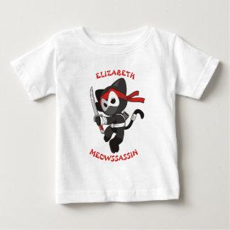 Meow-Meuchelmörder Ninja Katze Meowssassin Baby T-shirt