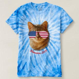 Meowica Katzen-amerikanische Flagge T T-shirt