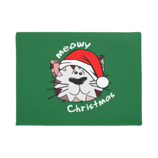 """Meowy Weihnachten 18"""" x 24"""" Tür-Matte Türmatte"""