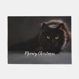 Meowy Weihnachten, Feiertagskatzen-Foto-Türmatte Türmatte