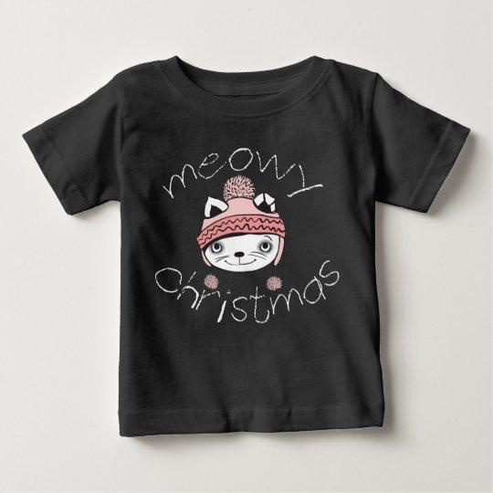 Meowy Weihnachtsbaby-Geldstrafe-Jersey-T - Shirt