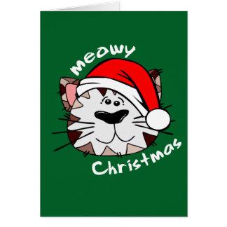 Meowy Weihnachtsgruß-Karte Karte