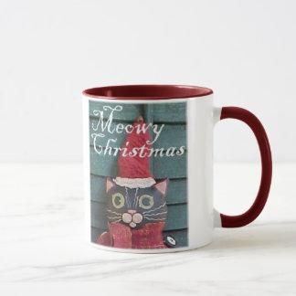 Meowy WeihnachtsTasse Tasse
