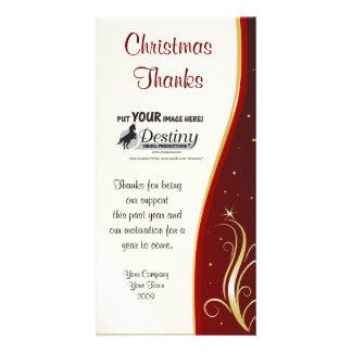 Merci à la carte de logo de Christmas Company Photocartes