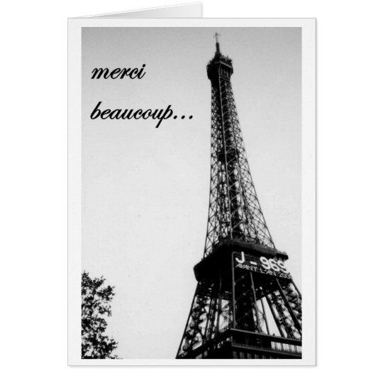 merci beaucoup 2 mitteilungskarte