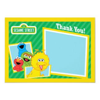 Merci de copains de Sesame Street Carton D'invitation 11,43 Cm X 15,87 Cm