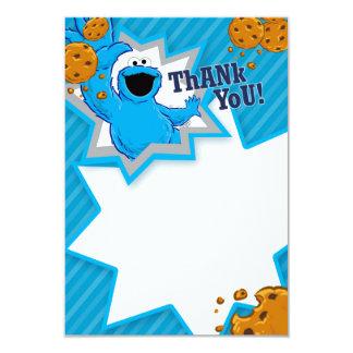 Merci de monstre de biscuit carton d'invitation 8,89 cm x 12,70 cm