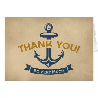 Merci nautique carte de correspondance