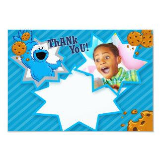 Merci personnalisable de monstre de biscuit carton d'invitation 8,89 cm x 12,70 cm
