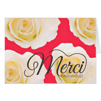 Merci rose de roses de Merci Beaucoup Carte De Vœux