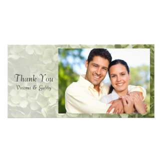 Merci vert de fleur d'hortensia d'Annabelle Photocarte