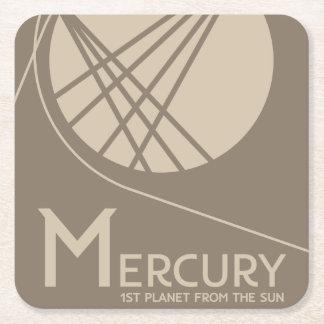 Mercury-Raum-Untersetzer Rechteckiger Pappuntersetzer