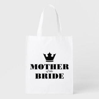 Mère de la jeune mariée sacs d'épicerie réutilisables