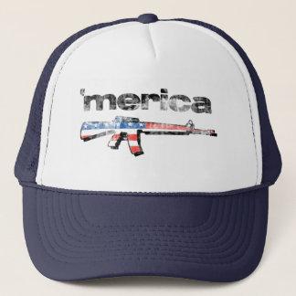 Merica beunruhigte Gewehr-Hut Truckerkappe