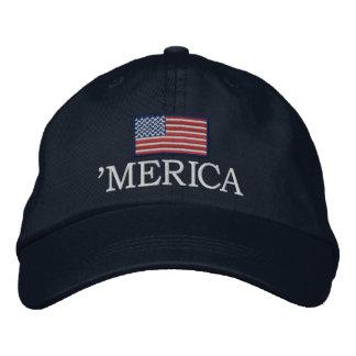 Merica - mit USA-Flagge Bestickte Baseballkappen
