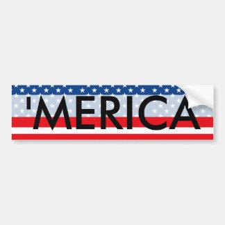 'MERICA patriotische USA Autoaufkleber