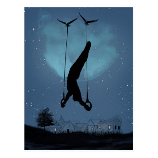 merkwürdige Nacht Postkarte