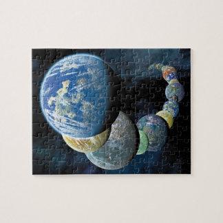 Merkwürdiger neuer Weltalien-PlanetMontage